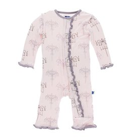 Kickee Pants Macaroon Chandelier Ruffle Coverall by Kickee Pants