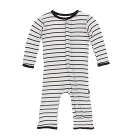 Kickee Pants Parisian Stripe Coverall by Kickee Pants