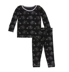 Kickee Pants Midnight Bikes Two Piece Pajama Set by Kickee Pants