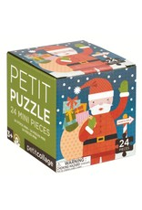 Petit Collage Holiday 24 Piece Petit Puzzle, Santa