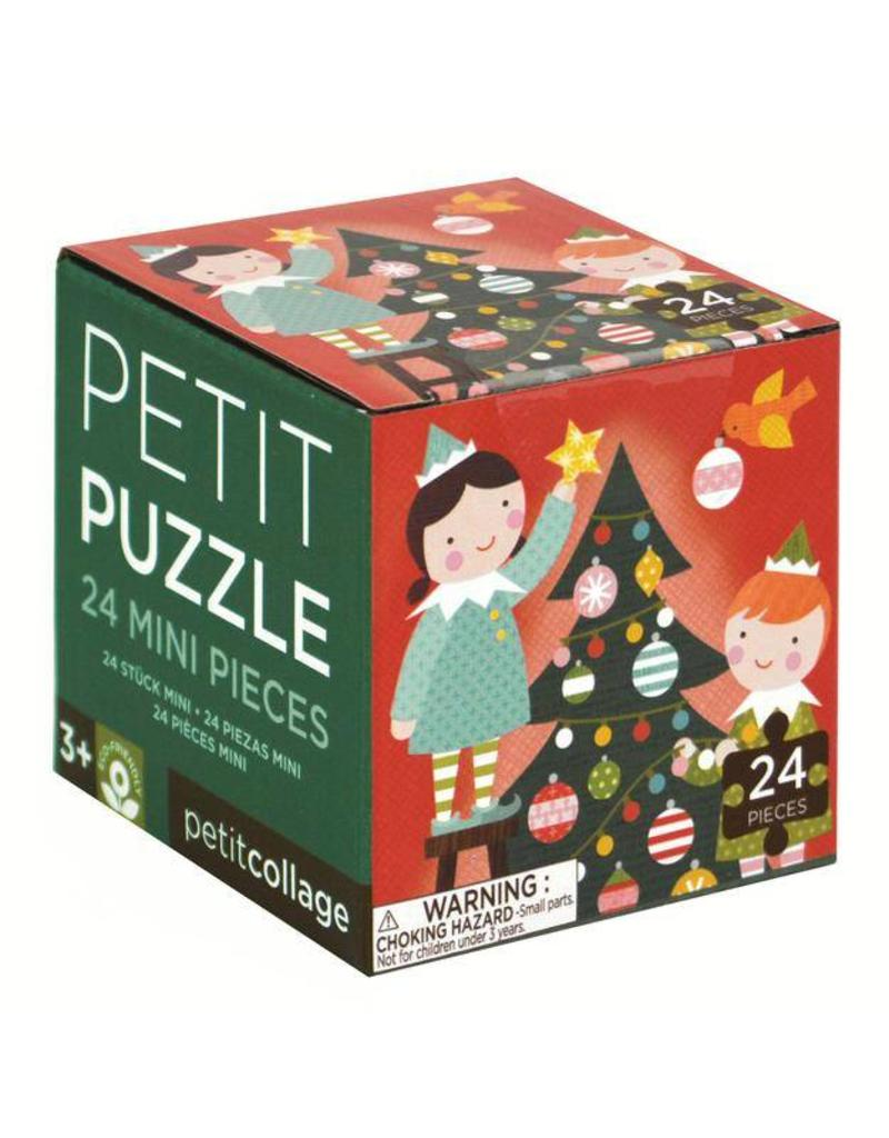 Petit Collage Holiday 24 Piece Petit Puzzle, Elves