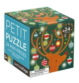 Petit Collage Holiday 24 Piece Petit Puzzle, Reindeer