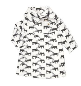 Kate Quinn Organics Reindeers Organic Lounge Dress