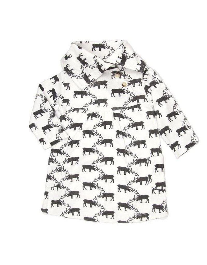 Kate Quinn Organics Reindeers Organic Lounge Dress
