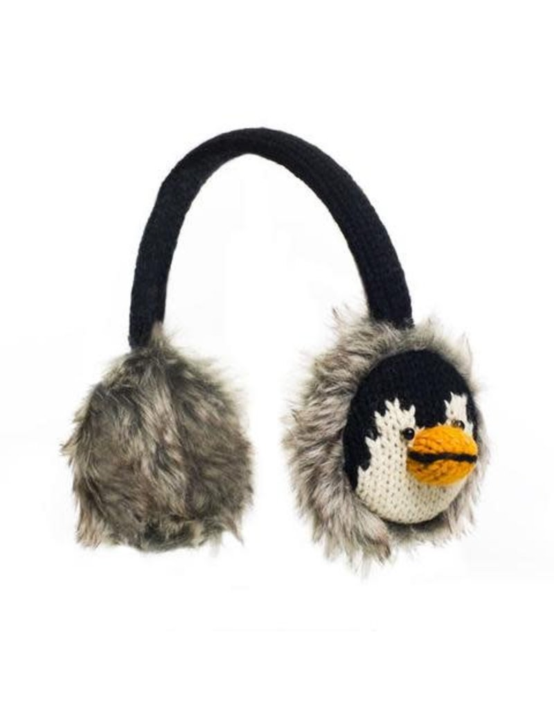 KnitWits Knitwits Animal Earmuffs, Peppy Penguin, 6yrs +