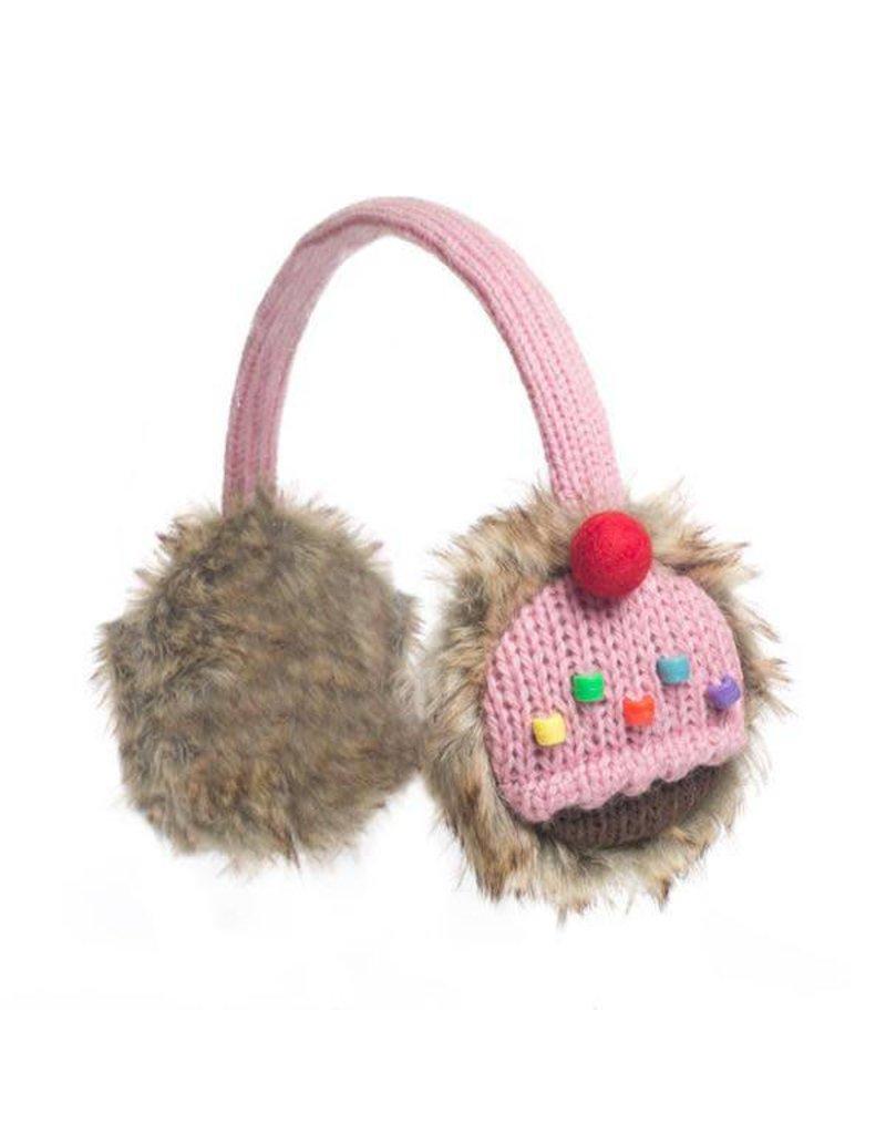 KnitWits Knitwits Earmuffs, cupcake, 6yrs+