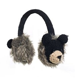 KnitWits KnitWits Animal Earmuffs, Babu the Black Bear