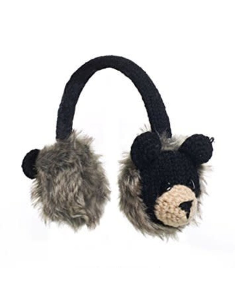 KnitWits KnitWits Animal Earmuffs, Babu the Black Bear