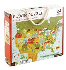 Petit Collage Petit Collage Floor Puzzle: United States