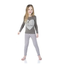 Kickee Pants Feather Hearts Two Piece Pajama Set by Kickee Pants