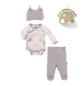 Kickee Pants Macaron Chandelier Kimono Gift Set by Kickee Pants