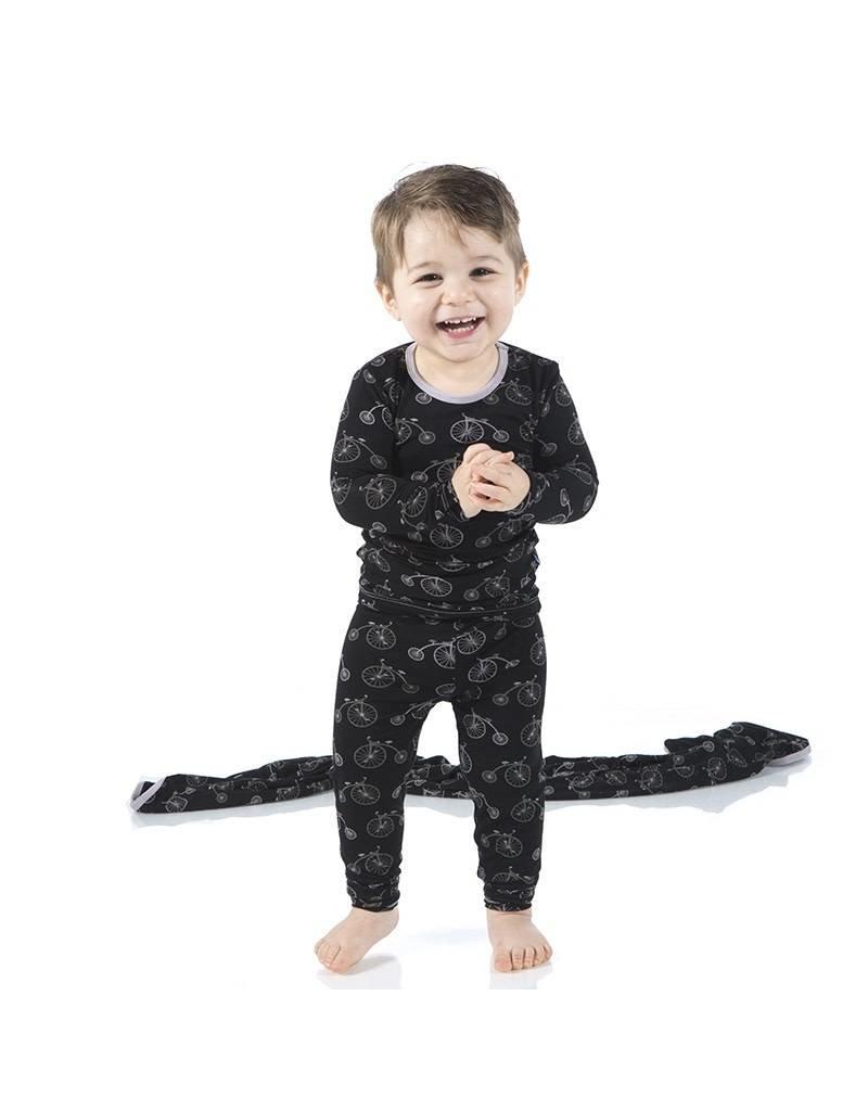Kickee Pants Midnight Bikes Two Piece Pajama Set by Kickee Pants