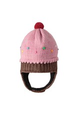 KnitWits Strawberry Cupcake Pilot Hat, pink, infant