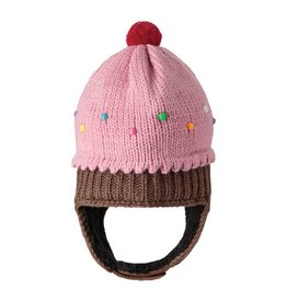 KnitWits Knitwits Infant Strawberry Cupcake Pilot Hat
