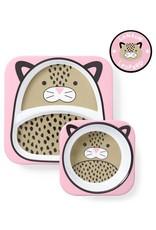 Skip*Hop Skip Hop Plate & Bowl Set: Leopard