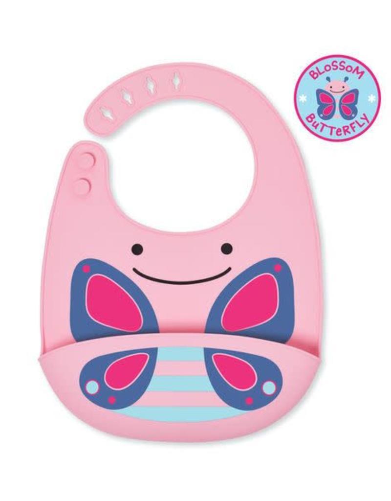 Skip*Hop Fold & Go Silicone Bib: Butterfly