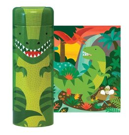 Petit Collage Tin Canister Puzzle 64-piece Puzzle: Dinosaur