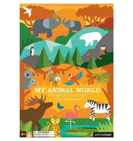 Petit Collage Petit Collage Sticker Activity Set: My Animal World