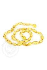 Baltic Amber Teething Necklace | Olive Lemon