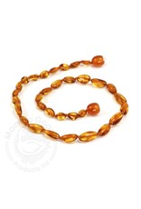 Baltic Amber Teething Necklace | Olive Cognac