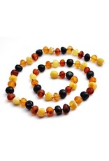Baltic Amber Teething Necklace |Baroque Unpolished Multicolor