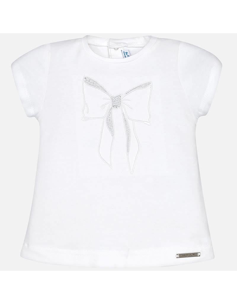 Mayoral Mayoral: Embroidered Bow Tee