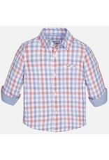 Mayoral SALE! Mayoral: Muted Plaid Baby Button Down Shirt