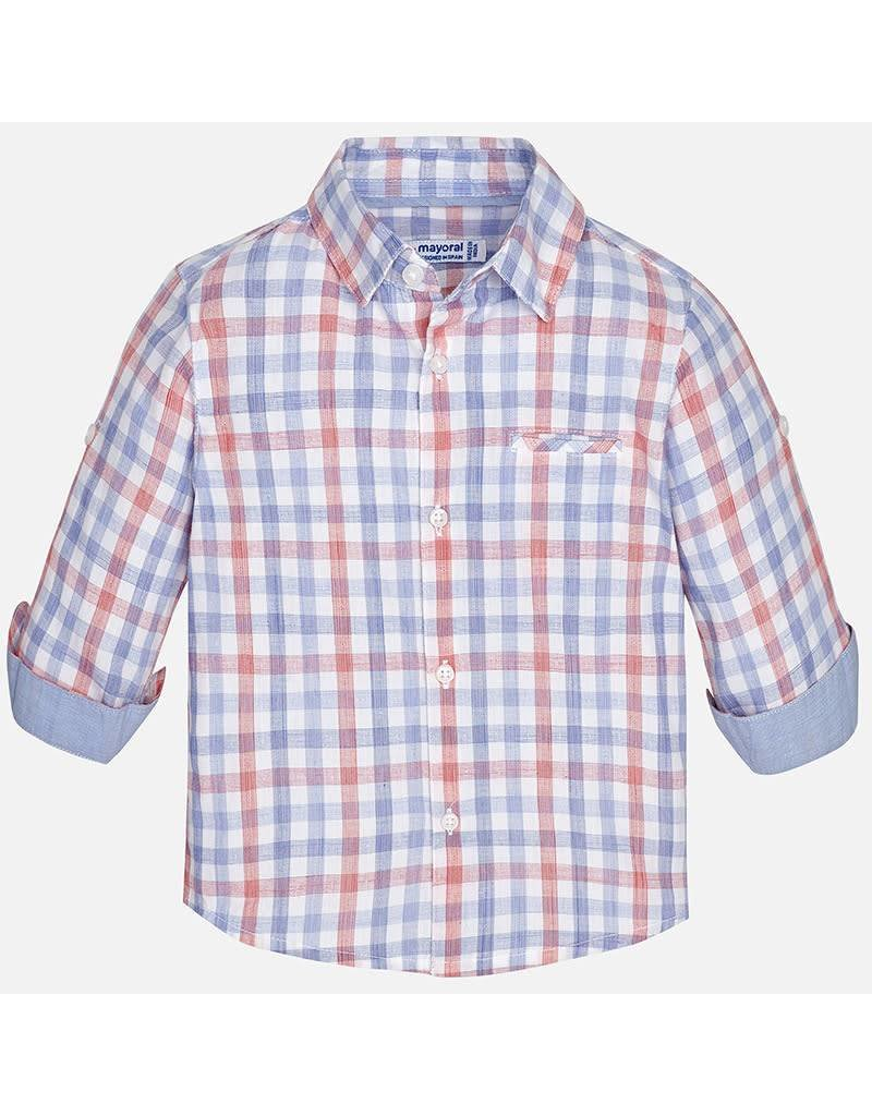 Mayoral Mayoral: Muted Plaid Baby Button Down Shirt