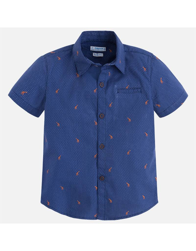 Mayoral Mayoral: Galloping Giraffes Button Front Shirt
