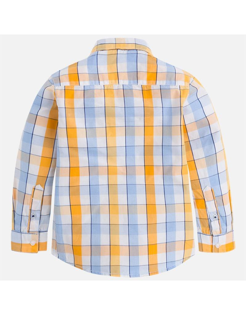 Mayoral Mayoral: Wide Stripe Plaid Button Down Shirt