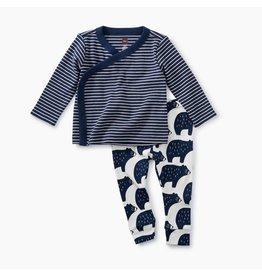 Tea Collection Tea Collection|Bears Kimono Baby Outfit
