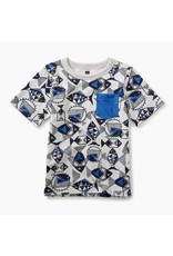 Tea Collection Tea Collection| Fish Print Pocket Graphic Tee