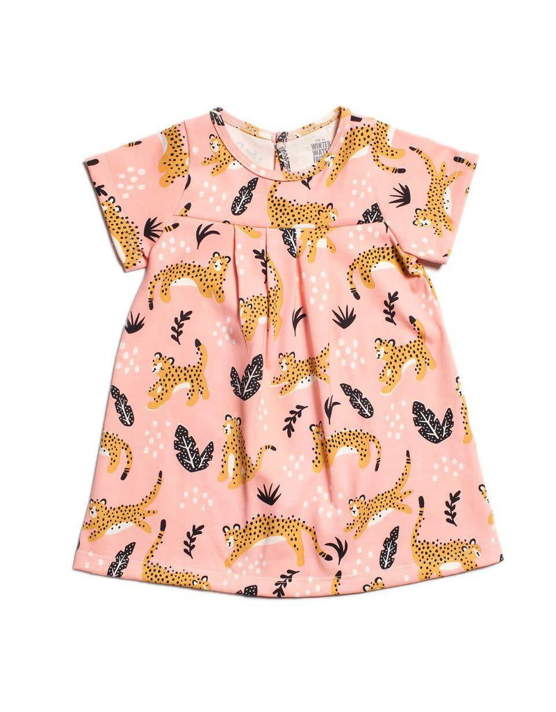 Winter Water Factory Winter Water Factory: Organic Cotton Florence Baby Dress in Wildcats