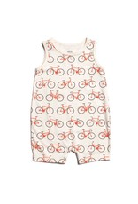 Winter Water Factory Winter Water Factory: Organic Cotton Tank Top Romper in Bicycles