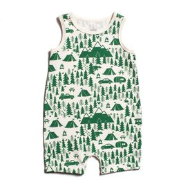 Winter Water Factory Winter Water Factory: Organic Cotton Tank Romper in Campground