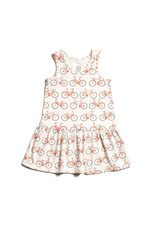 Winter Water Factory Winter Water Factory: Organic Cotton Valencia Dress in Bicycles