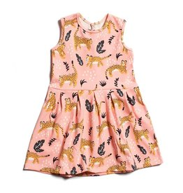 Winter Water Factory Winter Water Factory: Organic Cotton Essex Dress in Wildcats