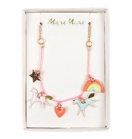 Meri Meri Meri Meri | Unicorn Enamel Charm Necklace
