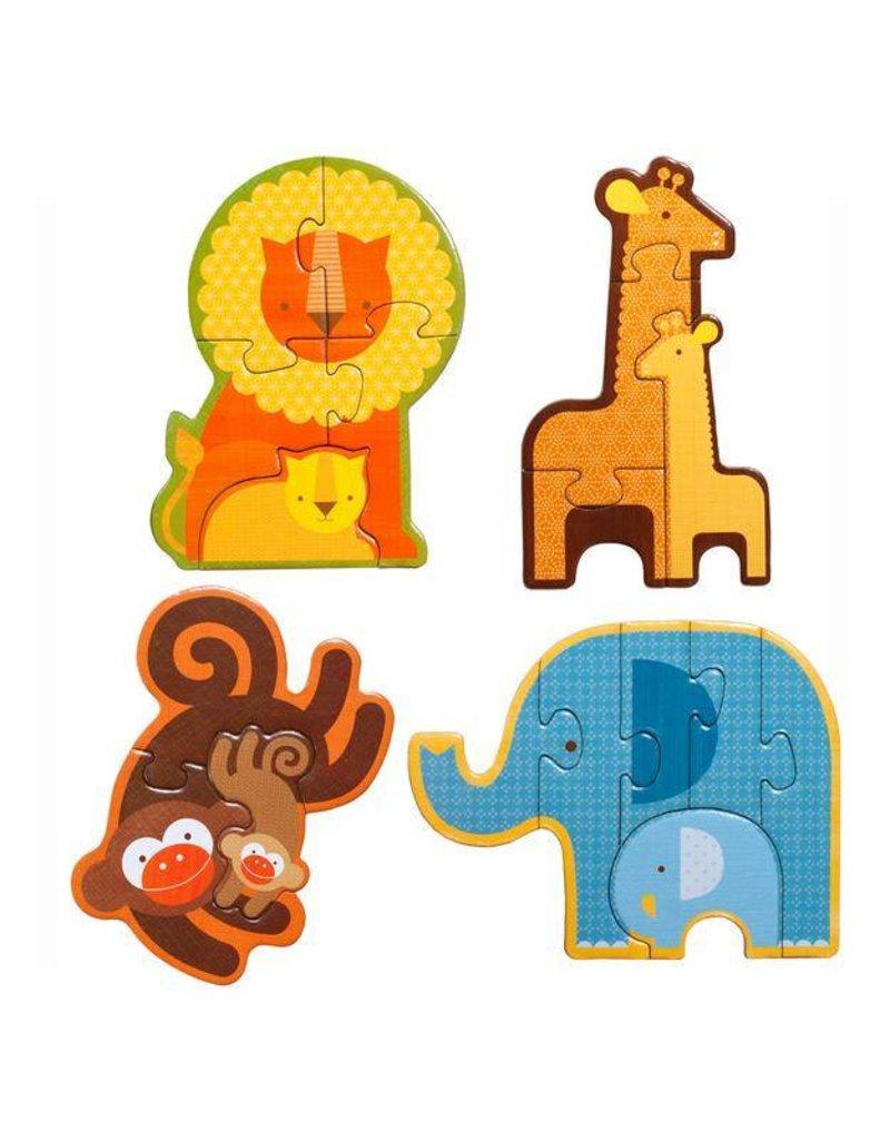 Petit Collage Petit Collage Beginner Puzzle: Safari Babies
