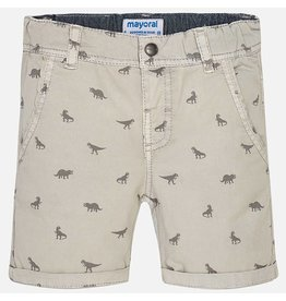 Mayoral Mayoral: Dino Printed Chino Shorts