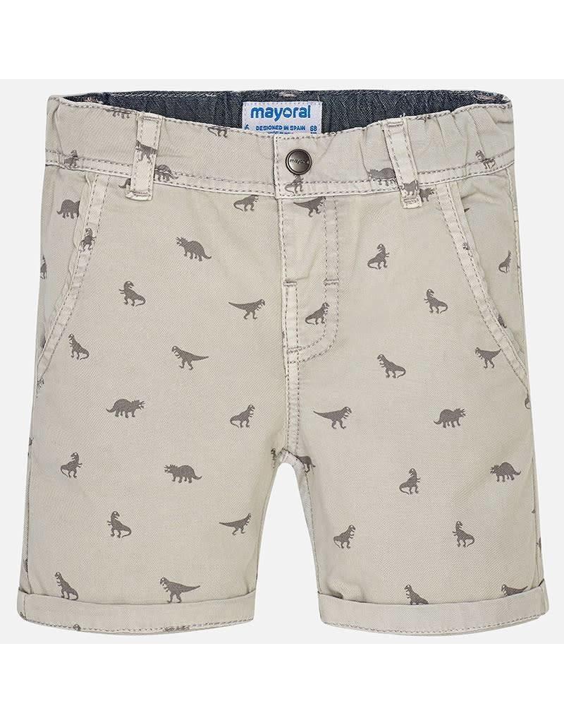 Mayoral Mayoral: Dino Printed Chino Shorts