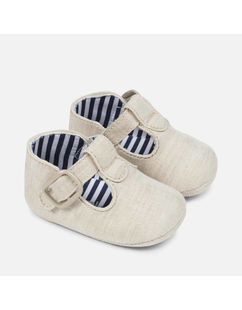 Mayoral Mayoral: Oatmeal T-Strap Shoe