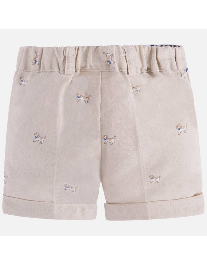 Mayoral SALE! Mayoral| Puppy Print Linen Shorts