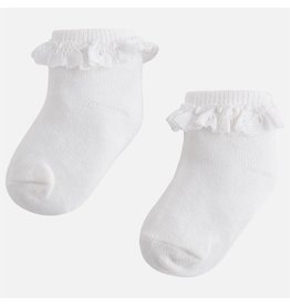Mayoral Mayoral| Lace Trim Baby Socks