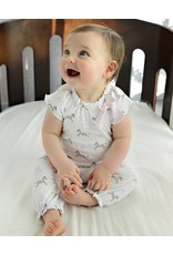 Feather Baby: Bow Romper, Zebras