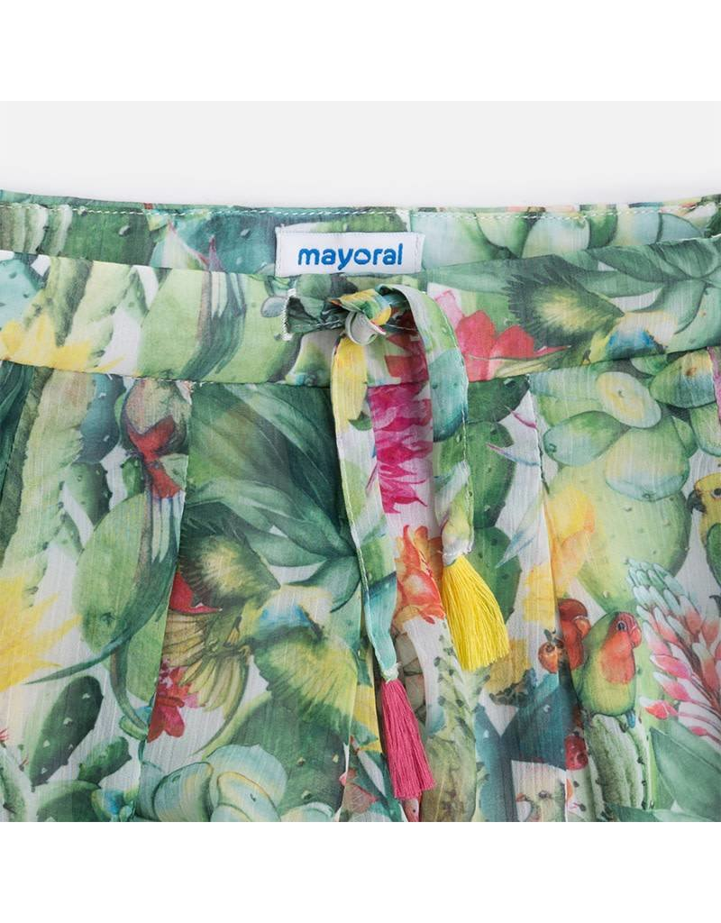 Mayoral Mayoral|Pleated Cactus Skirt