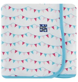 Kickee Pants KicKee Pants: Print Swaddle Blanket, Party Flags