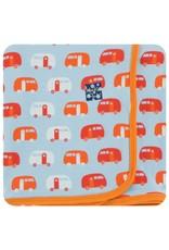 Kickee Pants KicKee Pants: Print Swaddle Blanket, Camper Pond