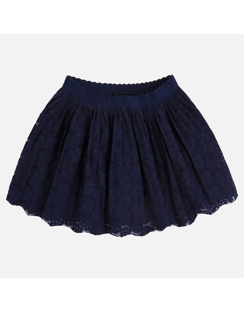 Mayoral Mayoral|Navy Lace Skirt