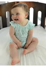 Feather Baby: Knot-Back Romper in Popsicles